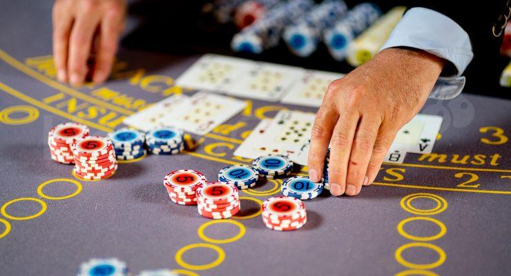 Blackjack Dealer In Action