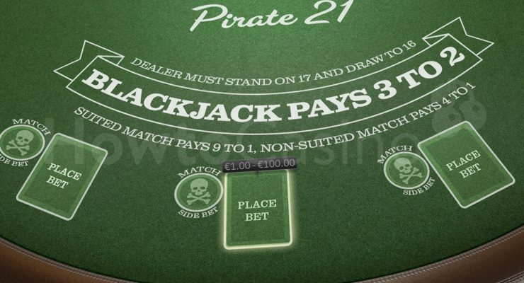 BetSoft Pirate 21 Blackjack Table
