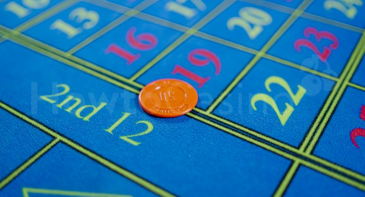 Straßenwette beim Roulette