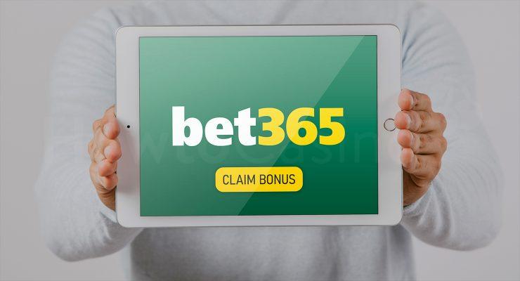 Bet365 कैसीनो बोनस के साथ iPad दिखा रहा है