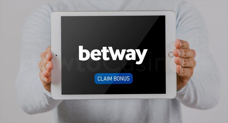 Showing iPad with Betway casino bonus