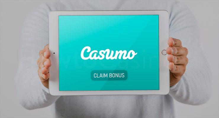 कैसुमो कैसीनो बोनस के साथ iPad दिखा रहा है