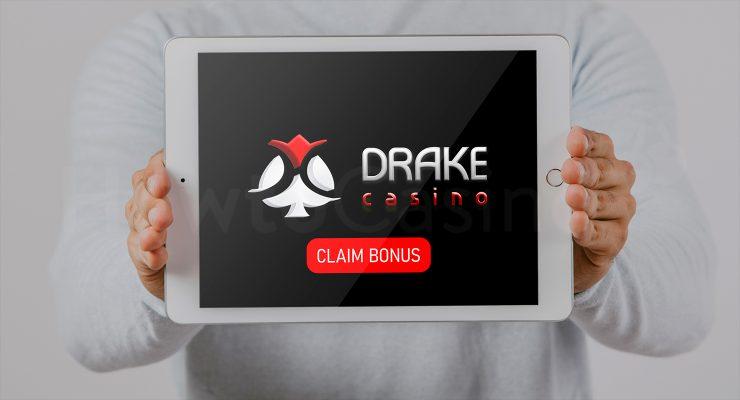 ड्रेक कैसीनो बोनस के साथ iPad दिखा रहा है