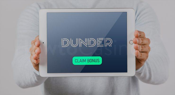 डंडर कैसीनो बोनस के साथ iPad दिखा रहा है