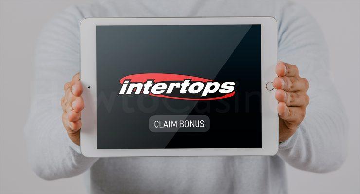 Intertops कैसीनो बोनस के साथ iPad दिखा रहा है