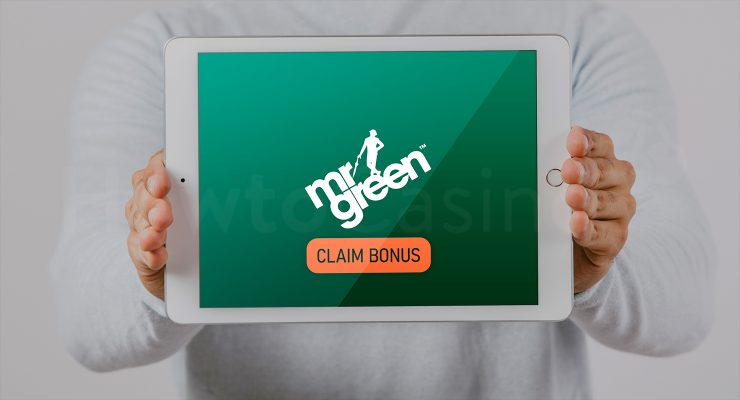 MrGreen कैसीनो बोनस के साथ iPad दिखा रहा है