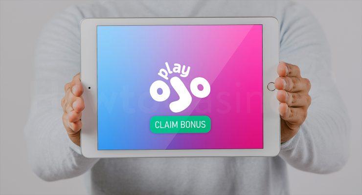 PlayOJO कैसीनो बोनस के साथ iPad दिखा रहा है