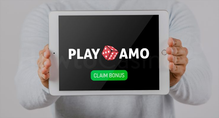 Playamo कैसीनो बोनस के साथ iPad दिखा रहा है