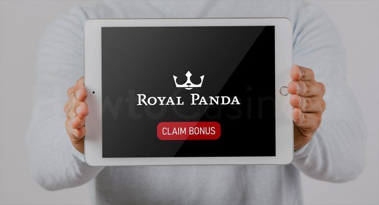 रॉयल पांडा कैसीनो बोनस के साथ iPad दिखा रहा है