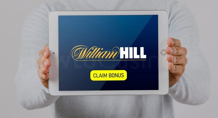 विलियम हिल कैसीनो बोनस के साथ iPad दिखा रहा है