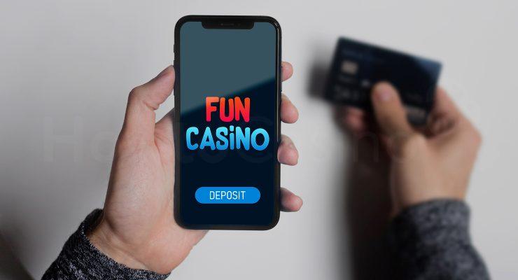 Making deposit at Fun casino