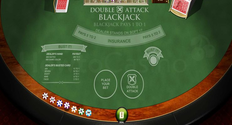 Playtech Double Attack Blackjack table