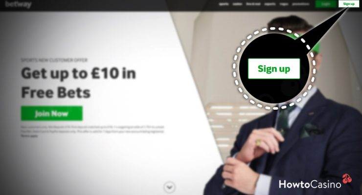Visit the Betway Website and Start the Signup