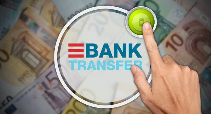 बैंक हस्तांतरण जमा