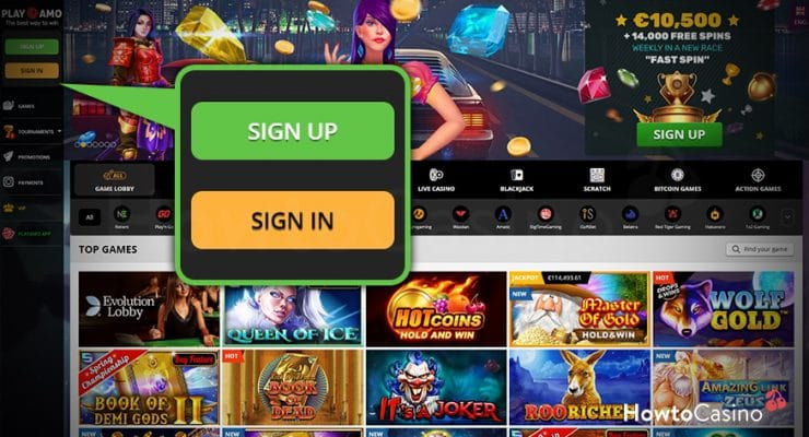 Sign Up for an Account at the Chosen Casino