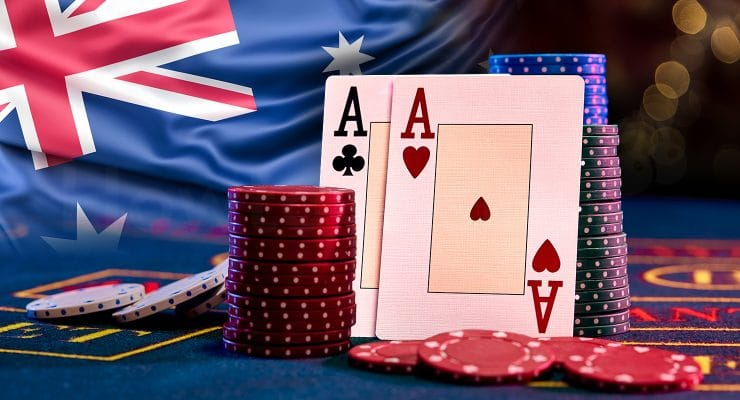 Casino elements with Australian flag