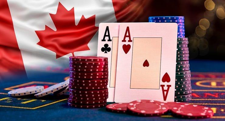 캐나다 국기와 카지노 요소