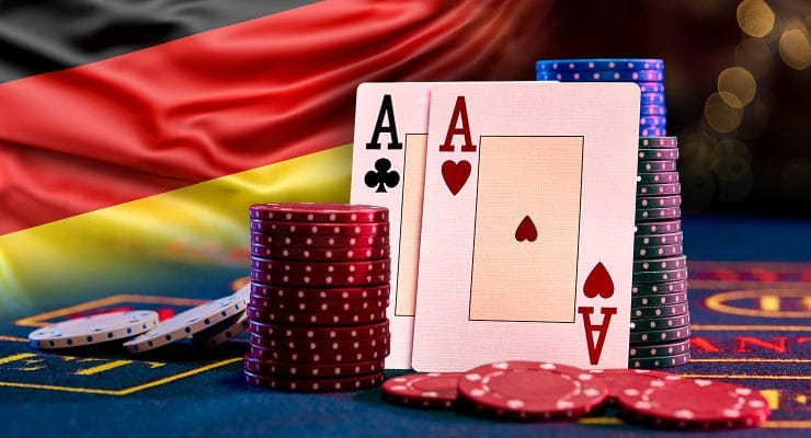 Casino elements with German flag