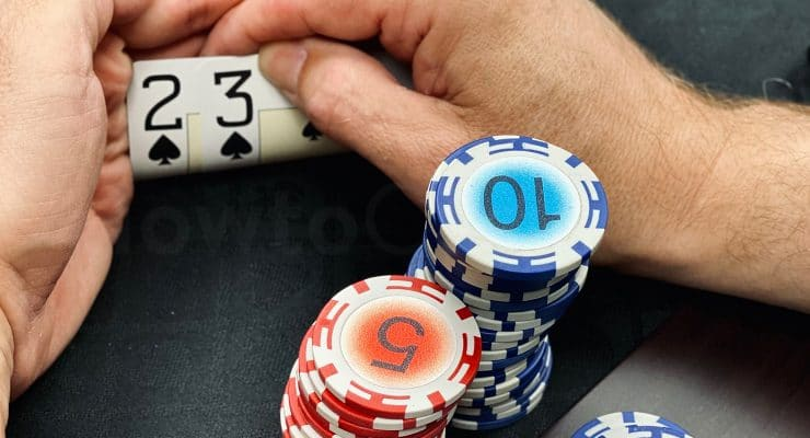 Kleine Verbindungshand im Poker