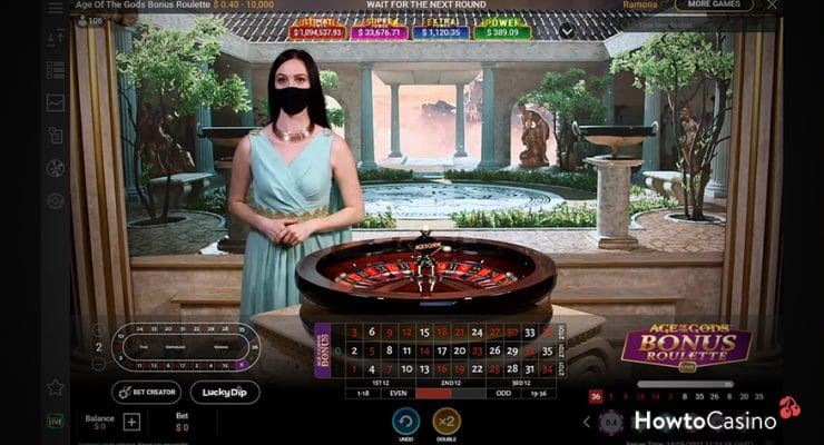 How to Play Age of the Gods Bonus Roulette