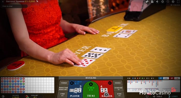Baccarat Squeeze Gameplay