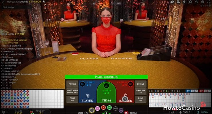Playing Baccarat Squeeze