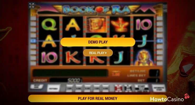 Playing Book of Ra for Free