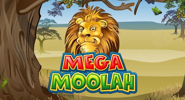 Microgaming Mega Moolah slot logo