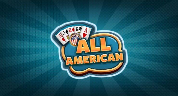 रेड रेक गेमिंग ऑल अमेरिकन पोकर लोगो