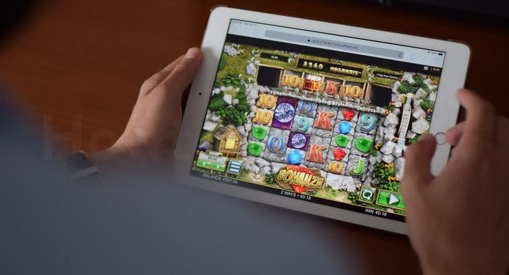 Playing Bonanza slot on iPad