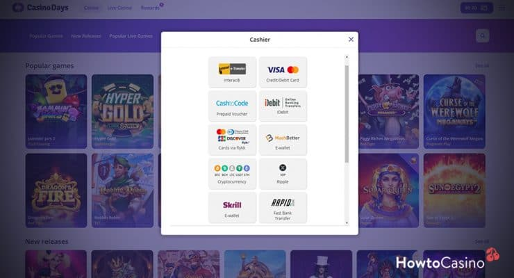 Click Deposit to Receive the Welcome Bonus