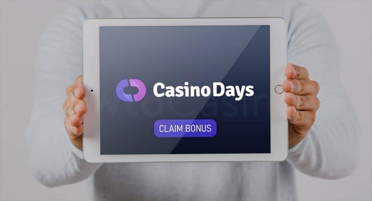 Showing iPad with Casino Days bonus