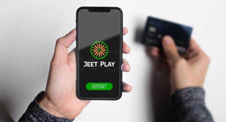 Making deposit at JeetPlay casino via mobile